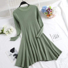 Kinky Cloth Dresses Light Green / One Size Baby Doll Knit Sweater Dress