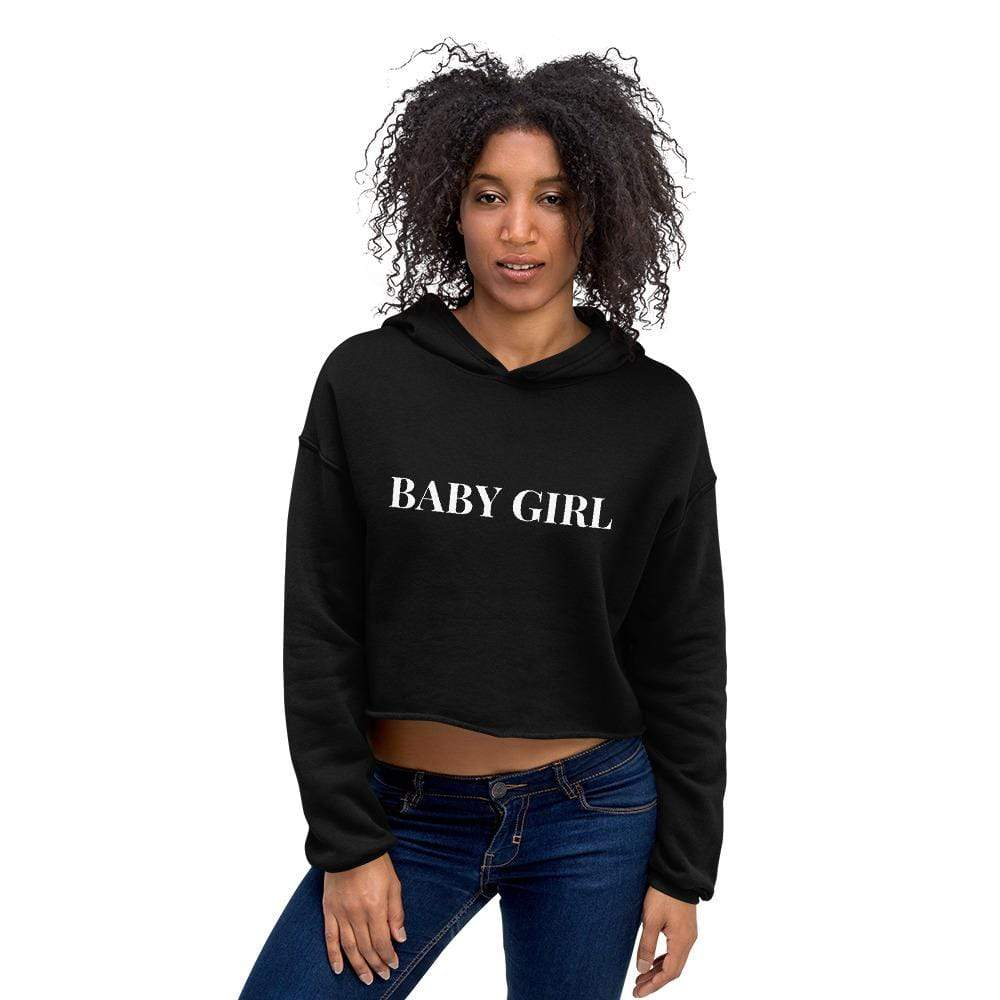 Kinky Cloth Black / S Baby Girl Crop Hoodie