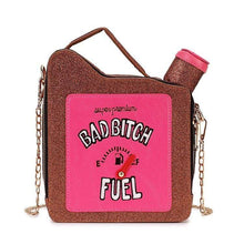 Kinky Cloth 100002856 Coffee / Mini(Max Length<20cm) Bad Bitch Fuel Purse