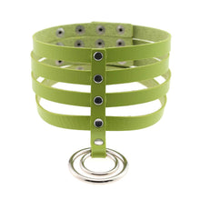 Kinky Cloth Necklace green Banded Belt Collar