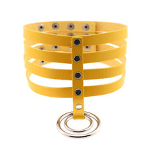 Kinky Cloth Necklace yellow Banded Belt Collar
