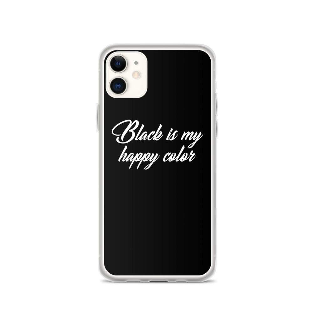 Kinky Cloth iPhone 11 Black Is My Happy Color iPhone Case