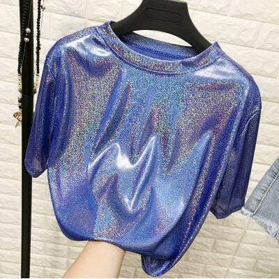 Kinky Cloth Blue / One Size Blade Runner Hologram Top