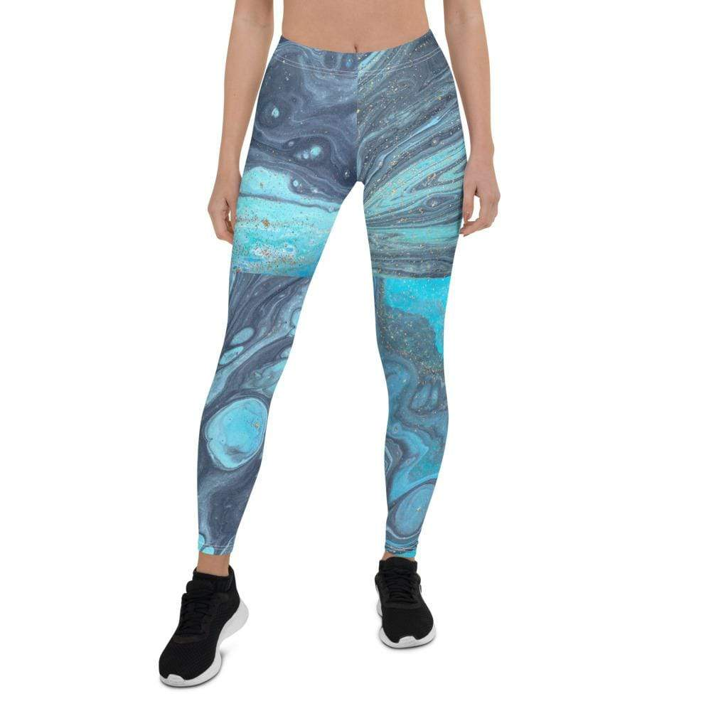 Kinky Cloth XS Blue Marble, Pattern, Rock, Geode, Quartz, New Age, Crystals Leggings