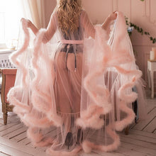 Kinky Cloth Boudoir Feather Sheer Robe