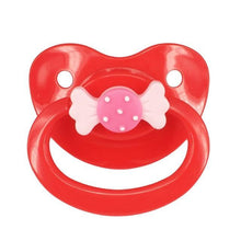 Kinky Cloth Red Bow Adult Pacifier