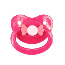 Kinky Cloth Rose Red Bow Adult Pacifier
