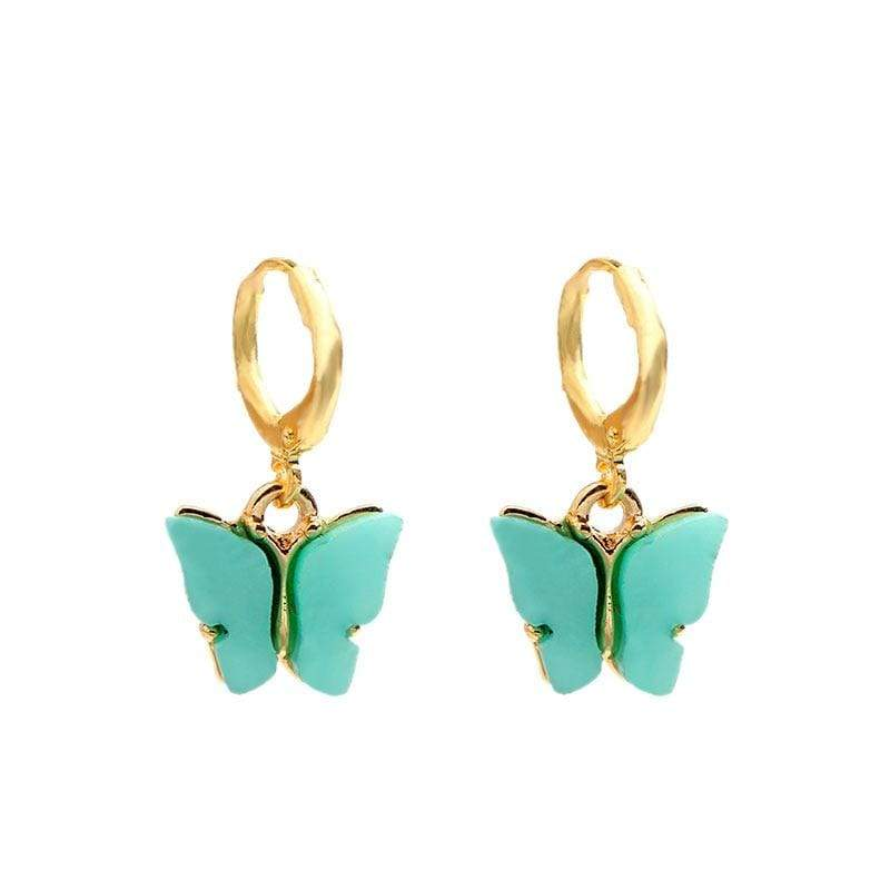 Kinky Cloth 200000168 AB Butterfly Drop Earrings