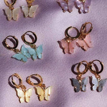 Kinky Cloth 200000168 Butterfly Drop Earrings