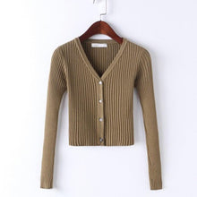 Kinky Cloth 200000373 Button Knitted Crop Top Cardigan