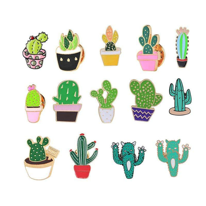Kinky Cloth Pin Cactus Enamel Pins