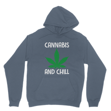 alloverprint.it Apparel Airforce Blue / XS Cannabis and Chill Classic Adult Hoodie