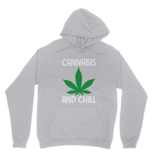 alloverprint.it Apparel Ash / XS Cannabis and Chill Classic Adult Hoodie