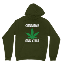 alloverprint.it Apparel Dark Green / XS Cannabis and Chill Classic Adult Hoodie