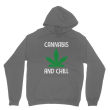 alloverprint.it Apparel Dark Grey / XS Cannabis and Chill Classic Adult Hoodie