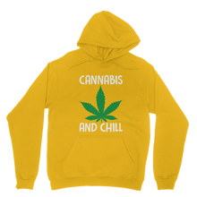 alloverprint.it Apparel Gold / XS Cannabis and Chill Classic Adult Hoodie