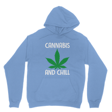 alloverprint.it Apparel Light Blue / XS Cannabis and Chill Classic Adult Hoodie