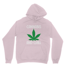 alloverprint.it Apparel Light Pink / XS Cannabis and Chill Classic Adult Hoodie