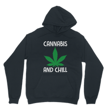 alloverprint.it Apparel Navy / XS Cannabis and Chill Classic Adult Hoodie