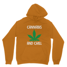 alloverprint.it Apparel Orange / XS Cannabis and Chill Classic Adult Hoodie