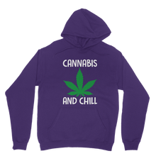 alloverprint.it Apparel Purple / XS Cannabis and Chill Classic Adult Hoodie
