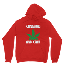alloverprint.it Apparel Red / XS Cannabis and Chill Classic Adult Hoodie
