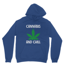 alloverprint.it Apparel Royal Blue / XS Cannabis and Chill Classic Adult Hoodie