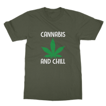 alloverprint.it Apparel Army Green / Unisex / S Cannabis and Chill Classic Adult T-Shirt