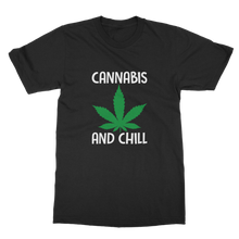 alloverprint.it Apparel Black / Unisex / S Cannabis and Chill Classic Adult T-Shirt