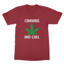 alloverprint.it Apparel Cardinal Red / Unisex / S Cannabis and Chill Classic Adult T-Shirt