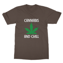 alloverprint.it Apparel Dark Chocolate / Unisex / S Cannabis and Chill Classic Adult T-Shirt