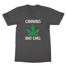 alloverprint.it Apparel Dark Heather / Unisex / S Cannabis and Chill Classic Adult T-Shirt