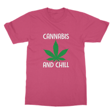 alloverprint.it Apparel Hot Pink / Unisex / S Cannabis and Chill Classic Adult T-Shirt