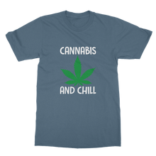 alloverprint.it Apparel Indigo Blue / Unisex / S Cannabis and Chill Classic Adult T-Shirt