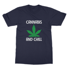 alloverprint.it Apparel Navy / Unisex / S Cannabis and Chill Classic Adult T-Shirt