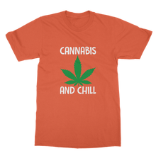 alloverprint.it Apparel Orange / Unisex / S Cannabis and Chill Classic Adult T-Shirt
