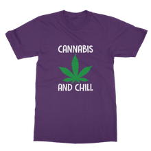 alloverprint.it Apparel Purple / Unisex / S Cannabis and Chill Classic Adult T-Shirt