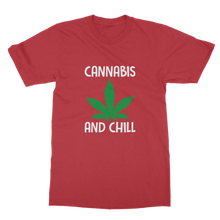 alloverprint.it Apparel Red / Unisex / S Cannabis and Chill Classic Adult T-Shirt