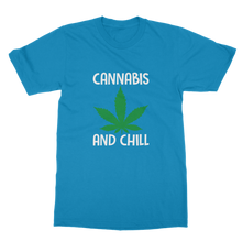 alloverprint.it Apparel Sapphire / Unisex / S Cannabis and Chill Classic Adult T-Shirt