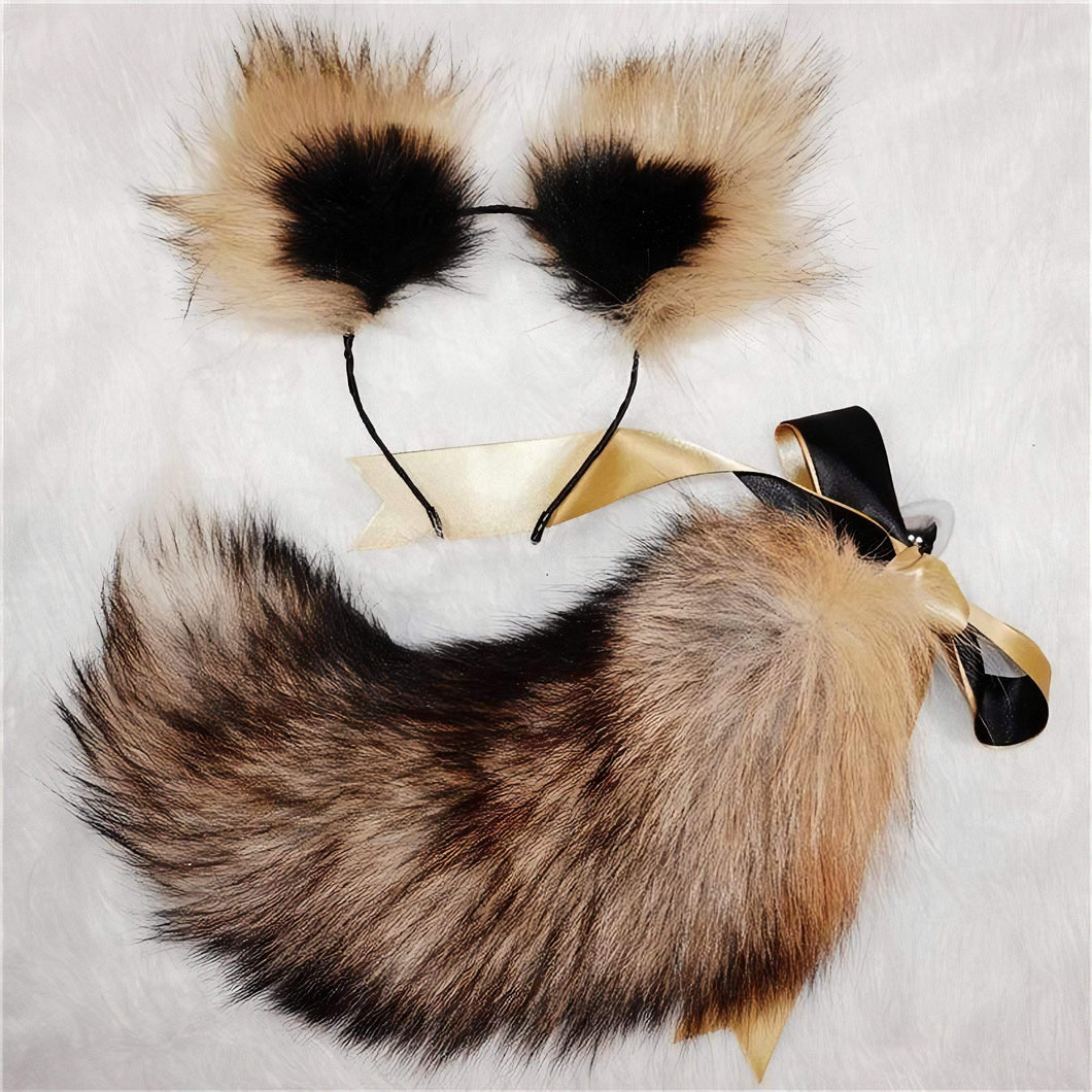 Cat Ears Headband and Animal Fox Tail Plug Set