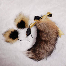 Load image into Gallery viewer, Cat Ears Headband and Animal Fox Tail Plug Set