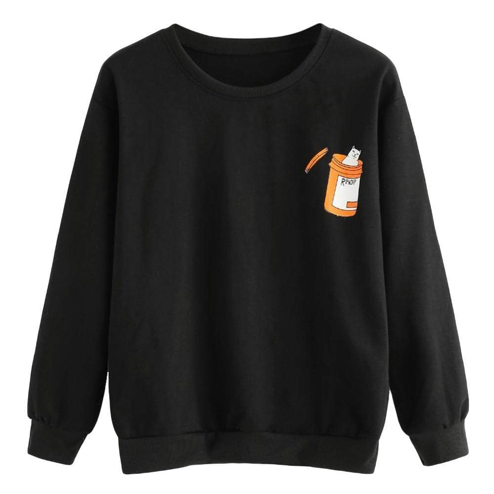 Kinky Cloth Sweatshirt Black / L Cat RX Sweatshirt