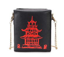 Kinky Cloth 100002856 BLACK Chinese Takeout Box Purse