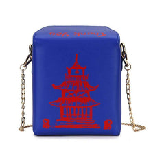Kinky Cloth 100002856 Blue Chinese Takeout Box Purse