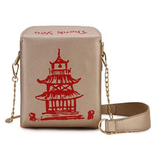 Kinky Cloth 100002856 Gold Chinese Takeout Box Purse