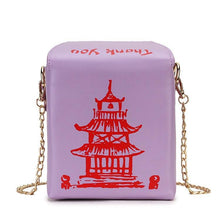 Kinky Cloth 100002856 Purple Chinese Takeout Box Purse
