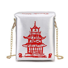 Kinky Cloth 100002856 Silver Chinese Takeout Box Purse