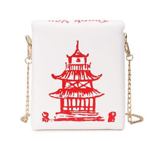 Kinky Cloth 100002856 WHITE Chinese Takeout Box Purse
