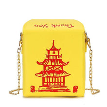 Kinky Cloth 100002856 Yellow Chinese Takeout Box Purse