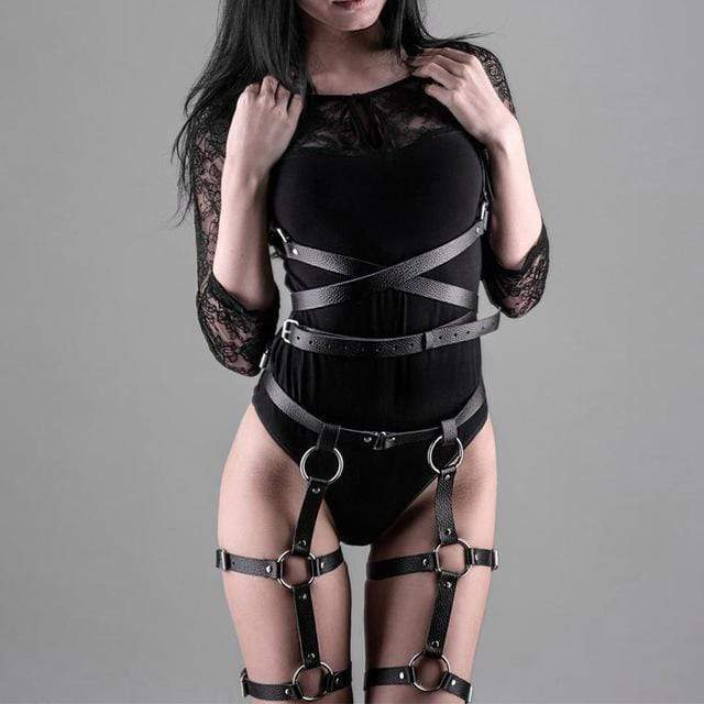 Kinky Cloth Harnesses Cross Torso Harness